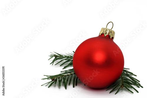 Fototapeta weihnachtskugel obraz