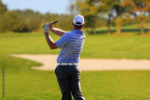 Poster Golf Man playing golf
