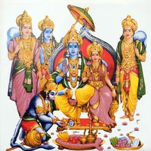 Hindu Deity Hanuman And Lord Rama