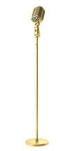Golden Vintage Microphone Isol...