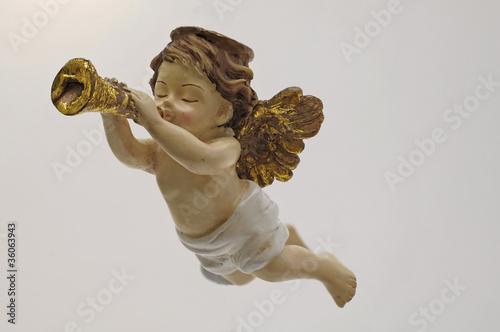 Akustikstoff - Engel mit Trompete