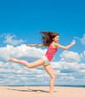 Active Girl on a beach