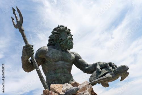 Virginia Beach Netpune Statue Canvas Print