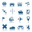 Navigation & transport icon set
