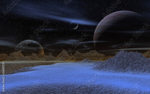 Wall Murals Nasa Blauer Planet