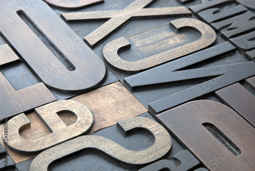 Tablou Canvas Letterpress background