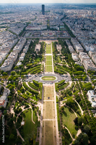 Photo  Champ de Mars - view from Eiffel tower