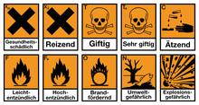 Gefahrstoffzeichen Set Deutsch...