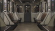 Subway, empty carriage of train