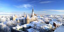 Tallinn City. Estonia. Snow On...