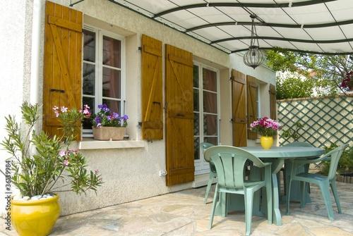 Fotografia  terrasse avec pergola