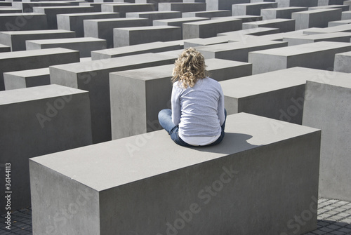 Fotografie, Obraz  Památník holocaustu, Berlin, Germany.