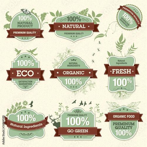 Fotografía  Set of Natural Premium Quality Labels