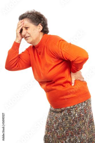 Fotografía  Senior woman with backache