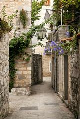 Fototapeta Uliczki budva old town street, montenegro