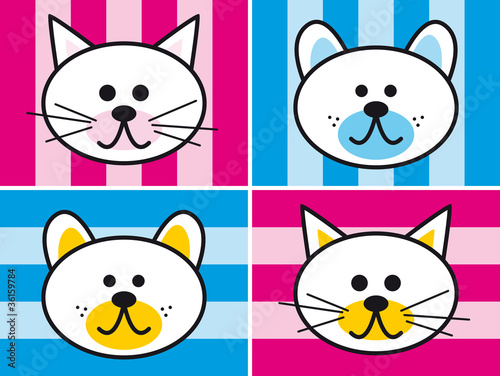 Printed kitchen splashbacks Cats Haustiere für Mädchen und Jungs