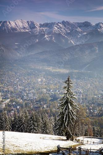 View of Tatra Mountains and Zakopane