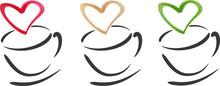 Coffee Cups Hearts