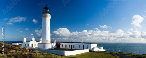 In de dag Vuurtoren mull of galloway lighthouse, Scotland