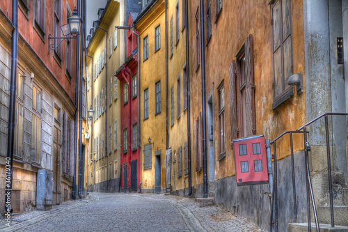 Gamla Stan,The Old Town in Stockholm, Sweden Poster
