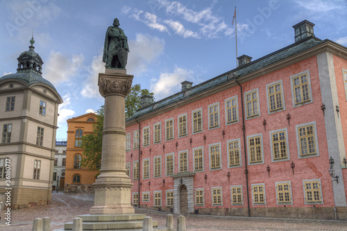statue of Birger Jarl,or Birger Magnusson,stockholm,sweden Canvas