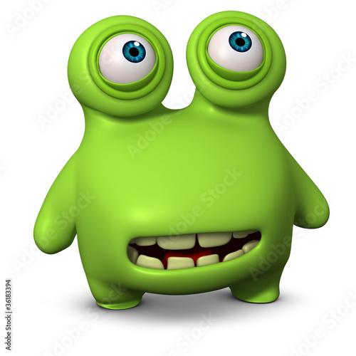 Keuken foto achterwand Sweet Monsters cartoon germ