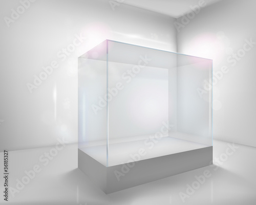 Carta da parati Display case. Vector illustration.