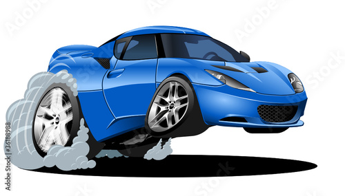 vector cartoon modern car