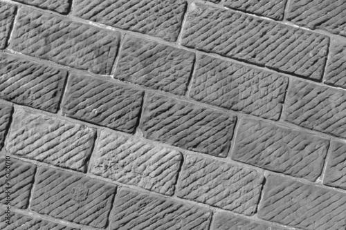 Staande foto Leder Mauer - Diagonale Aufnahme