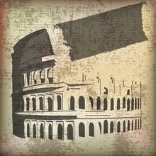 Colosseum Parchment Background
