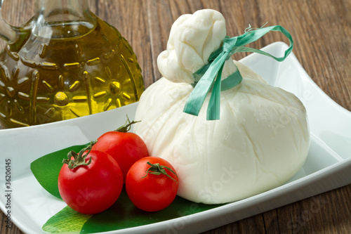 Poster Dairy products burrata