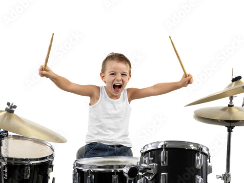Fotografía  young drummer boy