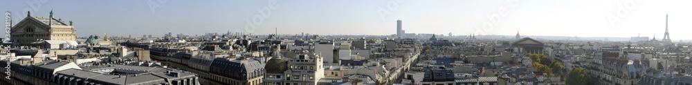 Fototapety, obrazy: Vue panoramique de Paris en Haute definition - France
