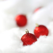 canvas print picture red christmas balls