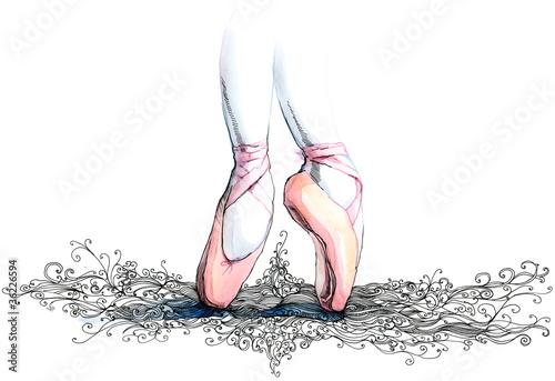 Fotografie, Tablou  balet dancer (series C)