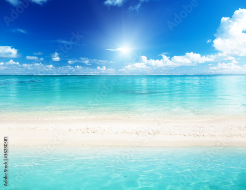Cadres-photo bureau Turquoise sea and sand