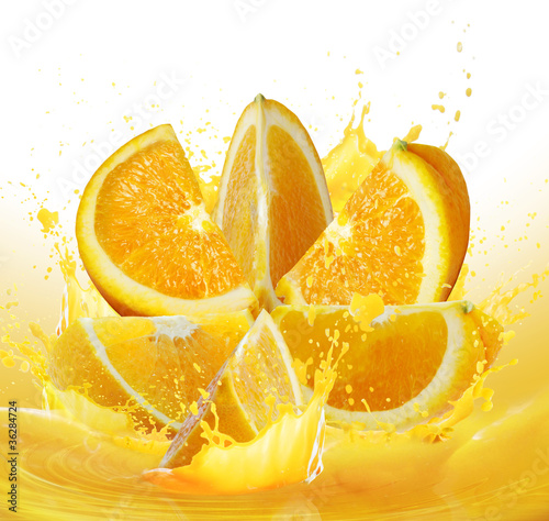 Foto op Plexiglas Tulp orange juice