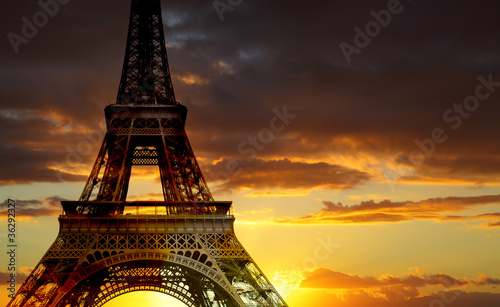 Spoed Foto op Canvas Parijs Eiffel tower, Paris