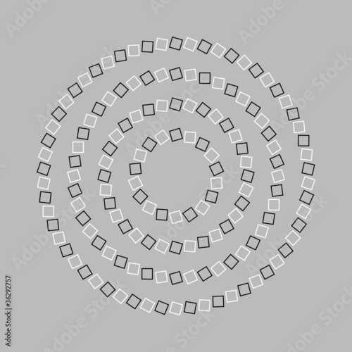 Spoed Foto op Canvas Psychedelic Circle or spiral - Optical illusion simple geometry