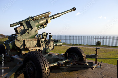 WW2 Artillery at Dover Pointed Towards the English Channel Canvas Print