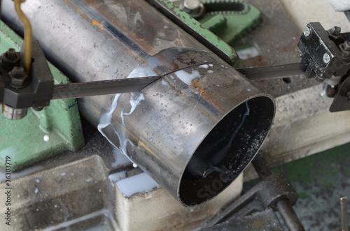 Fotografie, Obraz  Metal Pipe Cutting
