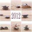 Leinwandbild Motiv 2012, collage galets zen