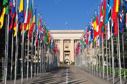 United Nations Palace of Nations geneva Fototapete