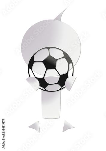 Photo  bonhomme ballon de foot