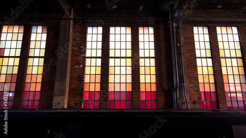 Staande foto Industrial geb. Colorful Industrial Urban Windows