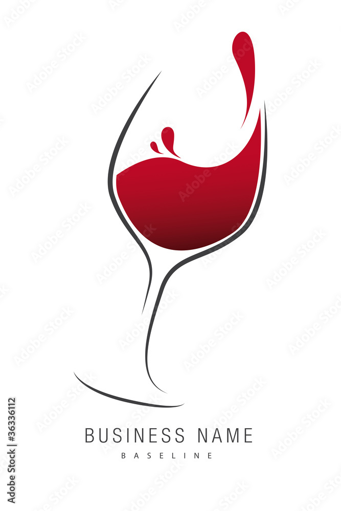 Fototapeta logo verre de vin