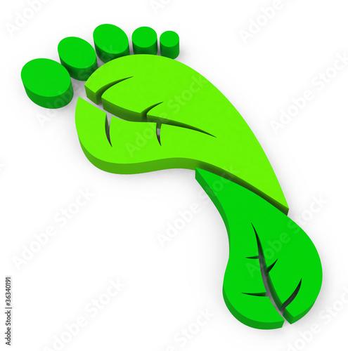 Plakaty ekologiczne   zielony-slad