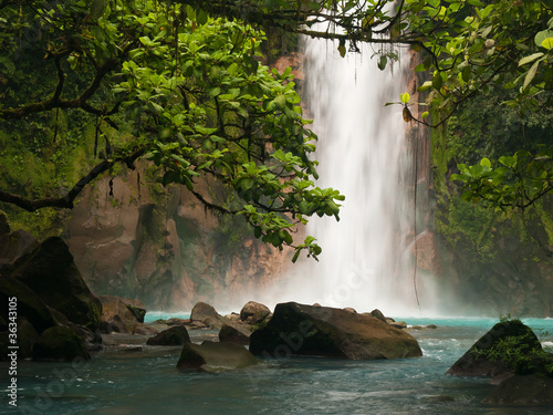 Poster Photo of the day Celestial blue waterfall