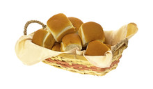 Basket Filled With Dinner Rolls