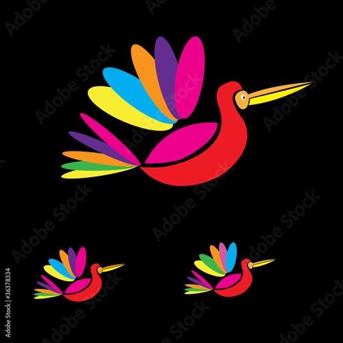 Poster Birds multicolored